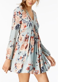 American Rag Juniors' Floral-Print Peasant Dress, Created for Macy's