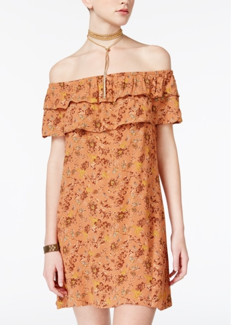 acef1ac118ee American Rag American Rag Juniors' Floral-Print Shift Dress, Created ...