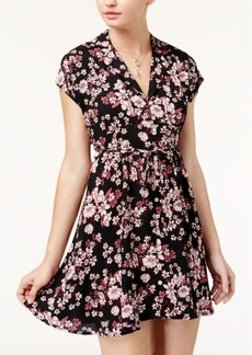 American Rag Juniors' Floral-Print Shirtdress, Created for Macy's