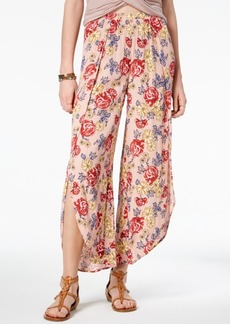 American Rag Juniors' Floral-Print Split-Leg Culottes, Created for Macy's