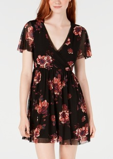 American Rag Juniors' Floral-Print Surplice Dress, Created for Macy's