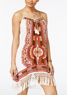 American Rag Juniors' Fringe-Trim Slip Dress, Only at Macy's