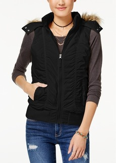American Rag Juniors' Hooded Puffer Vest, Created for Macy's