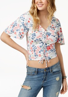American Rag Juniors' Kimono Crop Top, Created for Macy's
