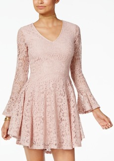 American Rag Juniors' Lace Fit & Flare Dress, Created for Macy's