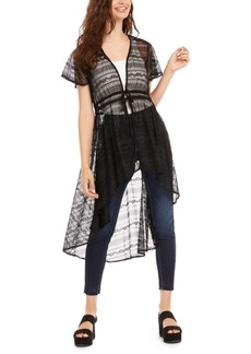 American Rag Juniors' Lace High-Low Duster, Created for Macy's