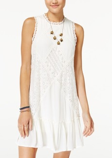 American Rag Juniors' Lace Mock-Neck Shift Dress, Created for Macy's
