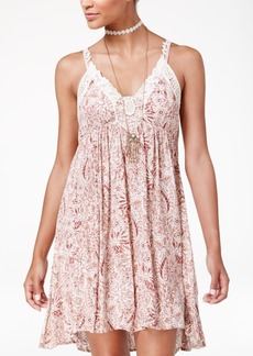 American Rag Juniors' Lace-Trim Babydoll Dress, Only at Macy's