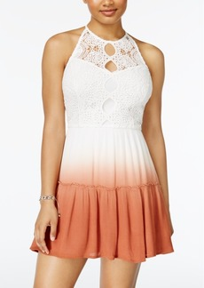 American Rag Juniors' Lace-Trim Dip-Dyed Dress, Created for Macy's