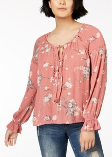 American Rag Juniors' Lace-Trim Poet Blouse, Created for Macy's