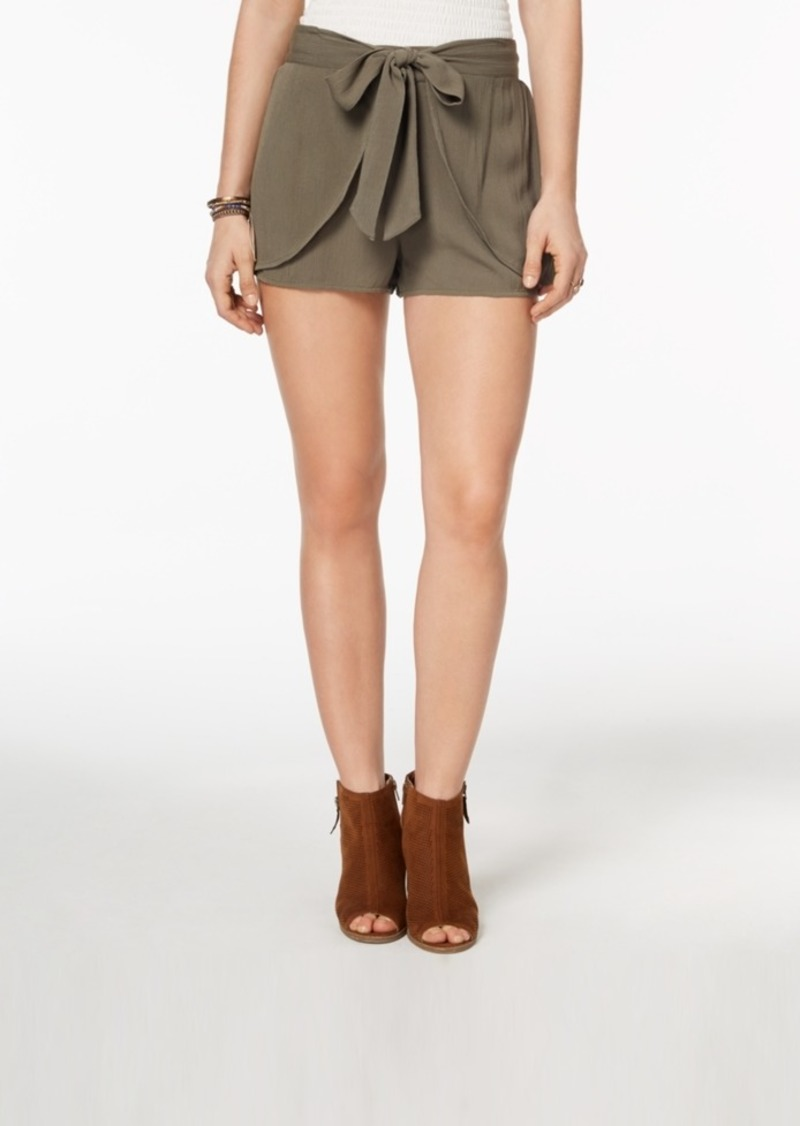 American Rag Juniors' Layered Tie-Waist Shorts, Created for Macy's
