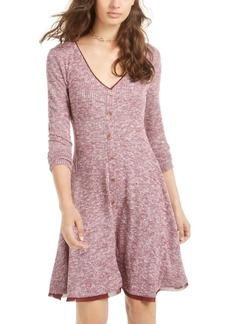 American Rag Juniors' Marled Rib-Knit Fit & Flare Dress, Created for Macy's