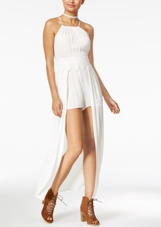 American Rag Juniors' Maxi-Overlay Romper, Created for Macy's
