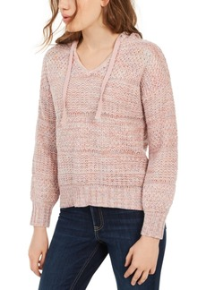 American Rag Juniors' Mixed-Knit Pullover Hoodie, Created for Macy's