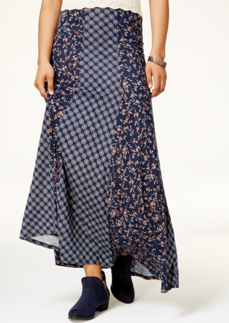 american rag american rag juniors mixed print maxi skirt