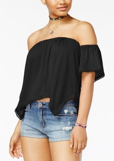 American Rag Juniors' Off-The-Shoulder Crop Top, Only at Macy's
