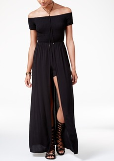 American Rag Juniors' Off-The-Shoulder Maxi Romper, Created for Macy's