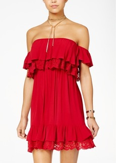 American Rag Juniors' Off-The-Shoulder Ruffled Dress, Created for Macy's