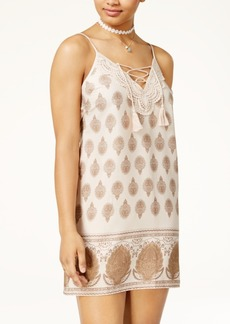 American Rag Juniors' Paisley-Print Slip Dress, Only at Macy's