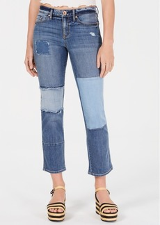 American Rag Juniors' Pieced Ripped Jeans, Created for Macy's
