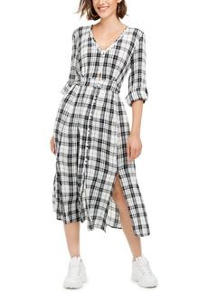 American Rag Juniors' Plaid Maxi Shirtdress, Created For Macy's