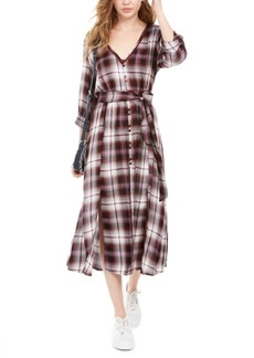 American Rag Juniors' Plaid Maxi Shirtdress, Created For Macy's