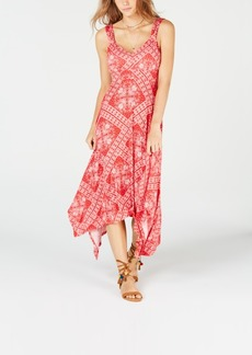 American Rag Juniors' Printed Asymmetrical-Hem Dress, Created for Macy's