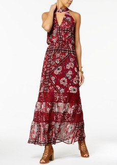American Rag Juniors' Printed Choker Maxi Dress, Created for Macy's