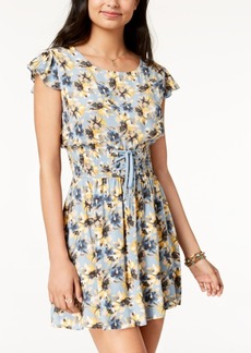 American Rag Juniors' Printed Corset-Waist Dress, Created for Macy's