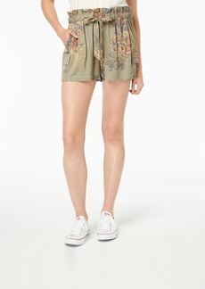 American Rag Juniors' Printed Drawstring Cargo Shorts, Created for Macy's