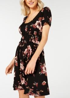American Rag Juniors' Printed Drawstring-Waist Dress, Created for Macy's