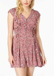 American Rag Juniors' Printed Lace-Up Dress, Created for Macy's
