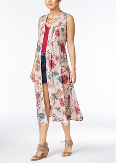 American Rag Juniors' Printed Maxi Vest, Created for Macy's