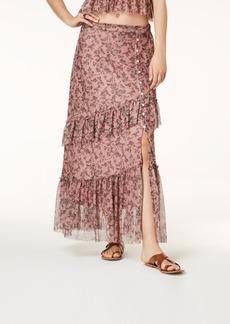 American Rag Juniors' Printed Mesh Maxi Skirt, Created for Macy's