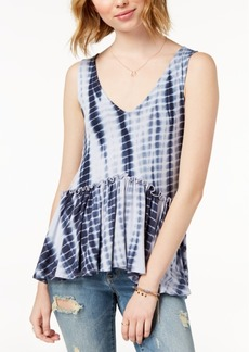 American Rag Juniors' Printed Ruffle Tank Top, Created for Macy's