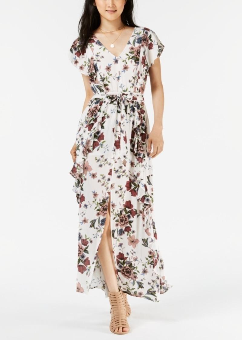 1248e56f3 American Rag Juniors' Printed Ruffled Maxi Dress, Created for Macy's