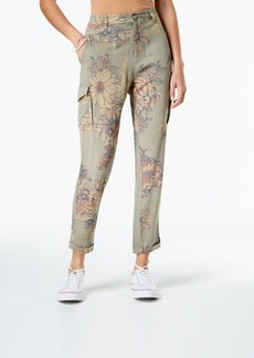 American Rag Juniors' Printed Soft Cropped Cargo Pants, Created for Macy's