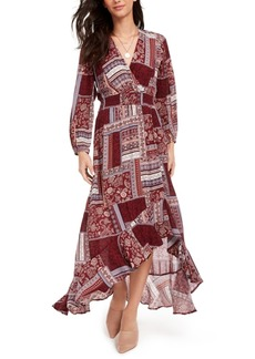American Rag Juniors' Printed Surplice Maxi Dress, Created for Macy's