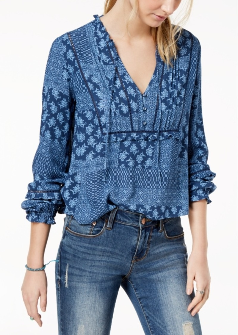 American Rag Juniors Tie-Front Cutout Top,