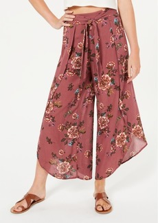 American Rag Juniors' Printed Tulip-Hem Wide-Leg Soft Pants, Created for Macy's
