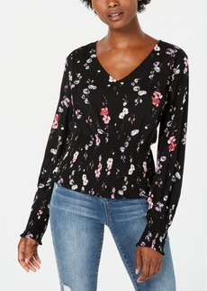 American Rag Juniors' Printed V-Neck Blouse, Created for Macy's