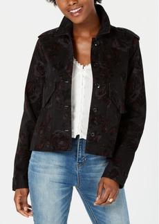 American Rag Juniors' Printed Velvet Jacket, Created for Macy's