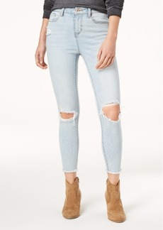 American Rag Juniors' Ripped Ankle-Length Skinny Jeans, Created for Macy's