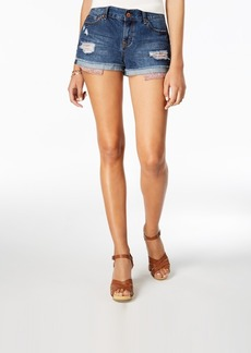 American Rag Juniors' Ripped Cuffed Denim Shorts, Created for Macy's