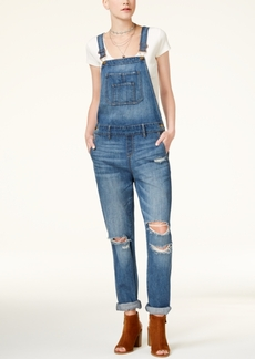 American Rag Juniors' Ripped Cuffed Overalls, Created for Macy's