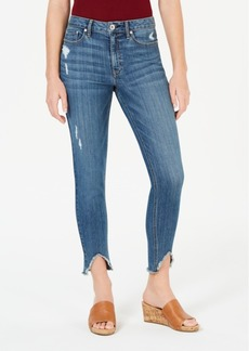American Rag Juniors' Ripped High-Low Skinny Jeans, Created for Macy's
