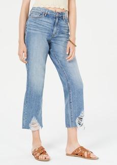American Rag Juniors' Ripped High-Rise Capri Jeans, Created for Macy's