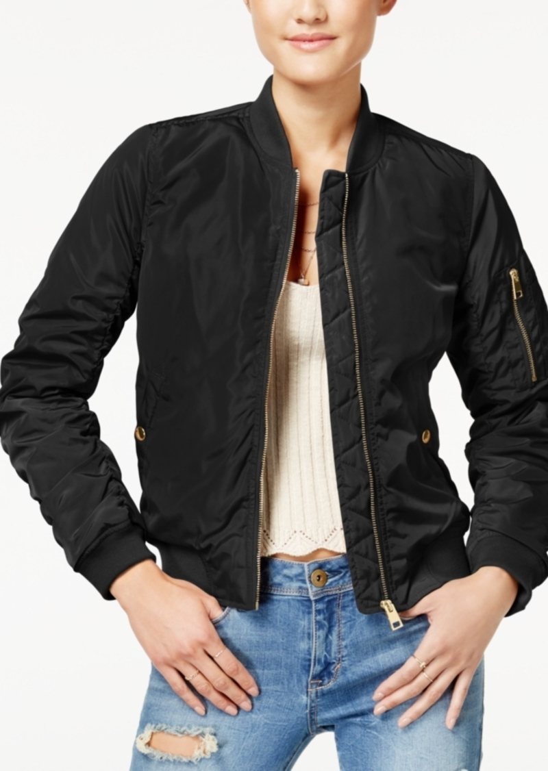 timeless design authorized site prevalent Juniors' Ruched-Back Bomber Jacket, Created for Macy's