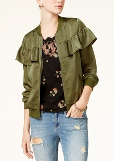 American Rag Juniors' Ruffled Bomber Jacket, Created for Macy's