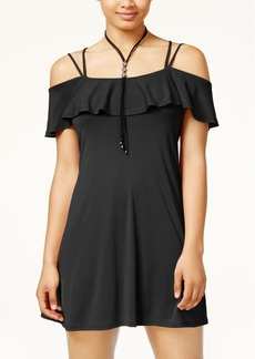 American Rag Juniors' Ruffled Cold-Shoulder Dress, Created for Macy's